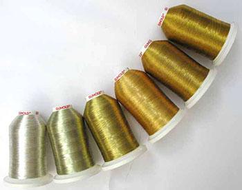 Вышивка с металлической нитью