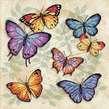 Вышивка бабочки гладью картинки