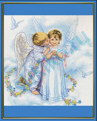 Схема вышивки поцелуи ангела