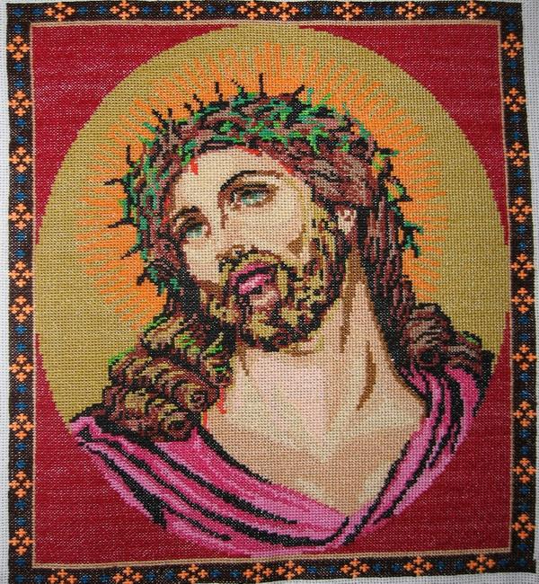 как вышивать крестиком икону